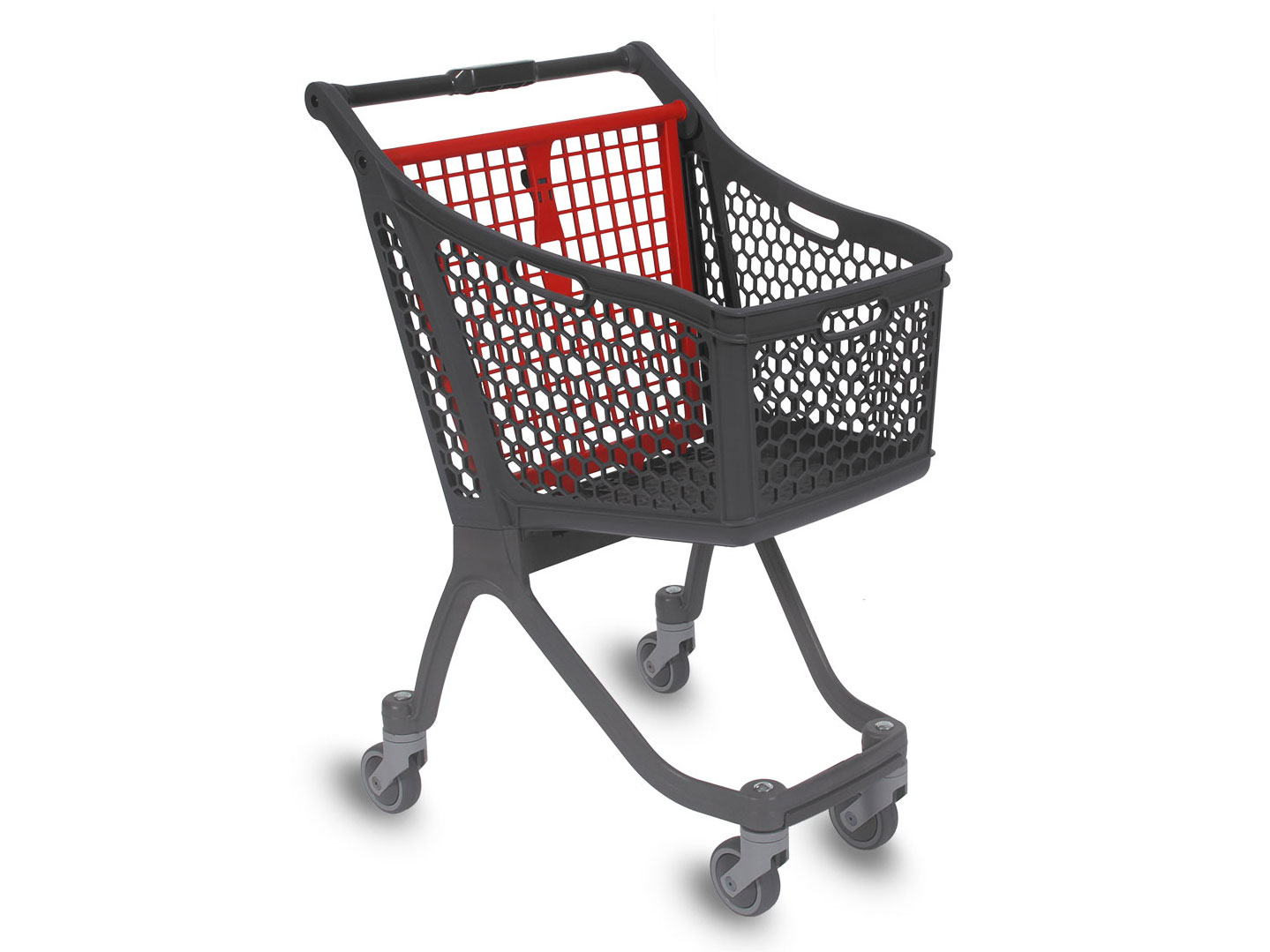 Basket trolley of the spanish company Polycart, an alternative to the supermarket basket