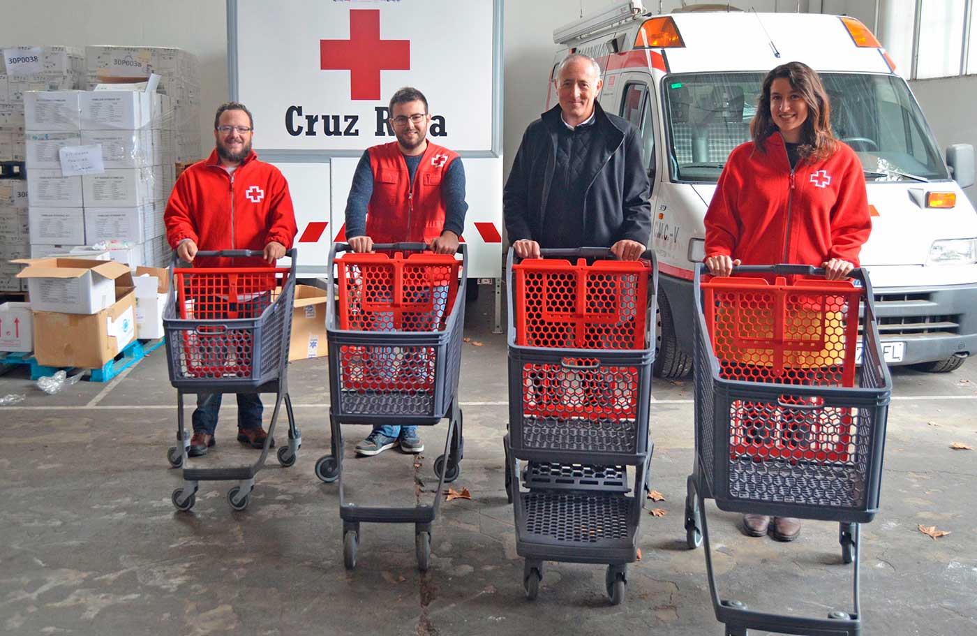 Polycart starts its solidarity campaign Carritos Solidarios with the donation of a fleet of plastic grocery cart to Red Cross