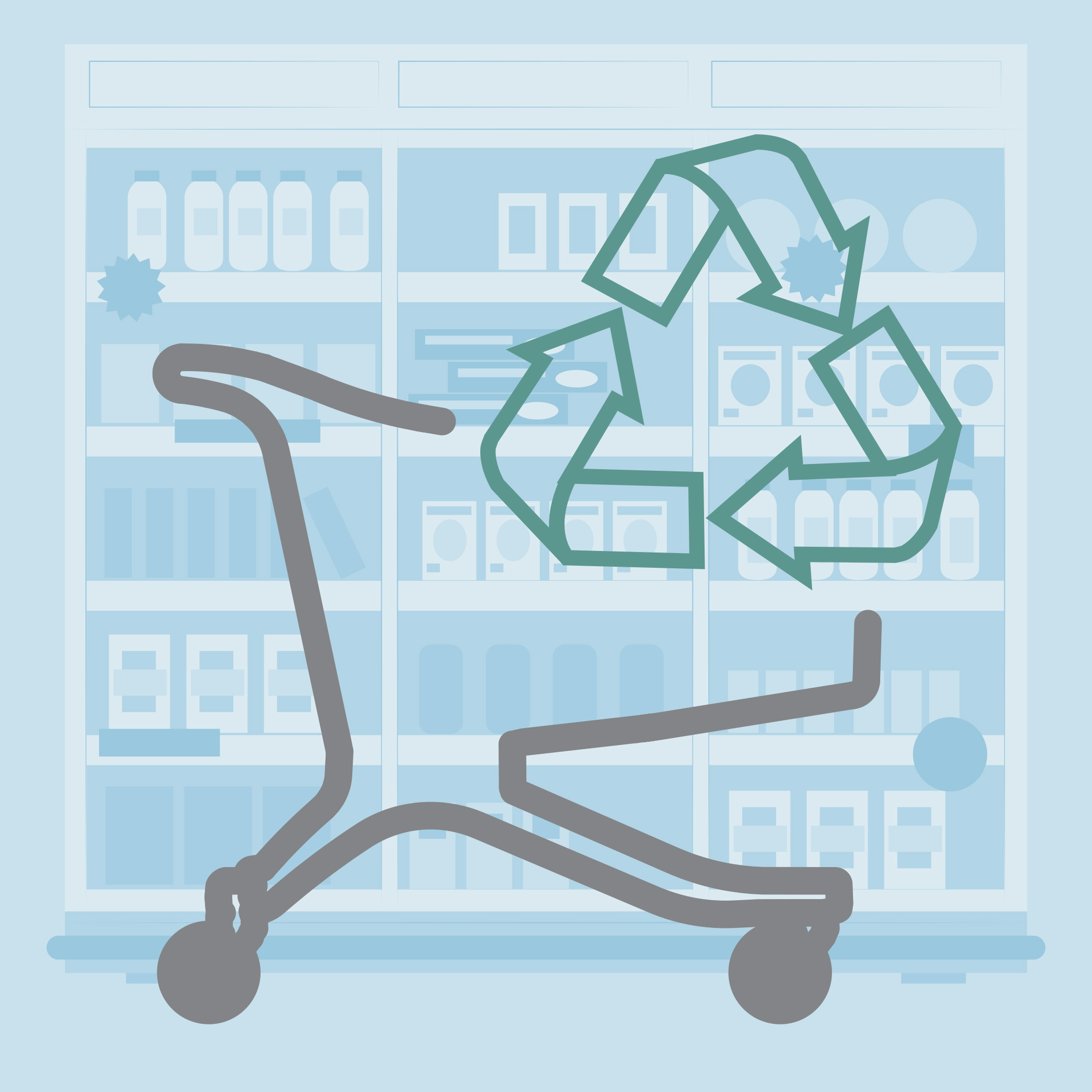 Do you want to be a sustainable supermarket? Polycart proposes the use of an ecological supermarket cart