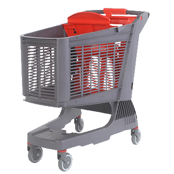 Big supermarket trolley