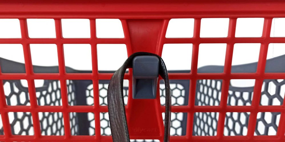 The Polycart B75 model is a small size shopping cart for very moderate shopping in urban stores