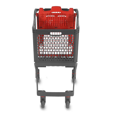 The Polycart P240 cart, also called XL, has a total volume of 240 liters. It is perfect for hypermarkets