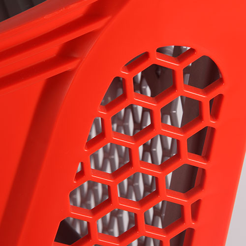 Plastic shopping cart detail